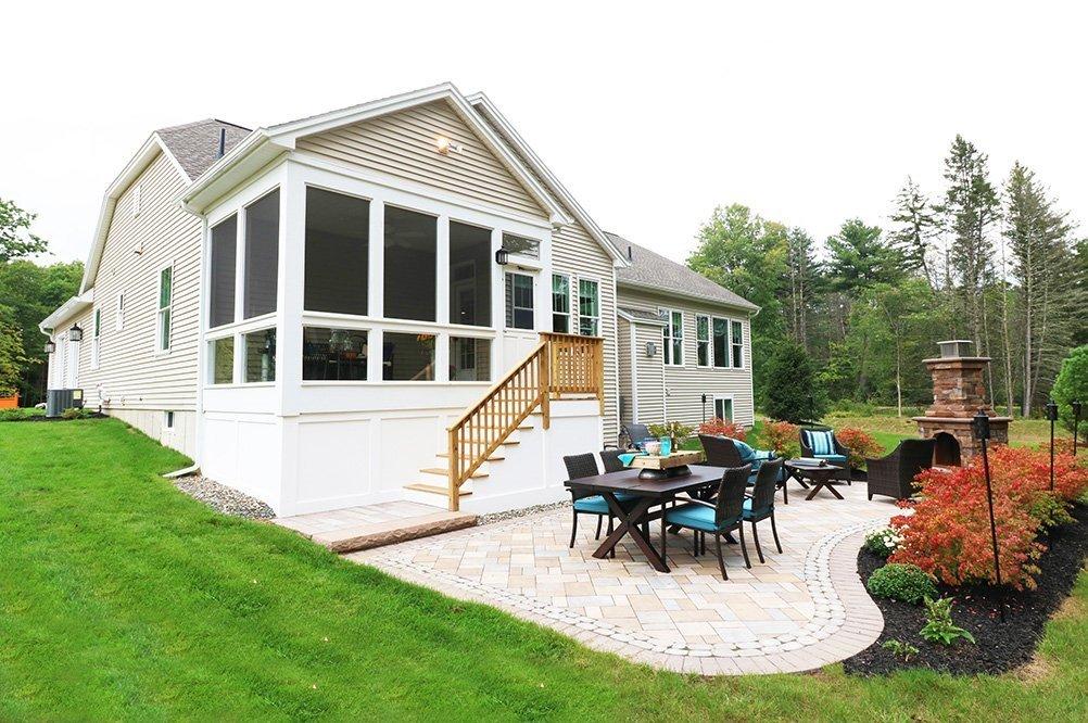 Belmonte Castleton Model Home Screened Porch and Patio